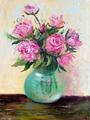Rose and green vase