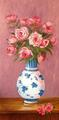 Roses and chinese vase